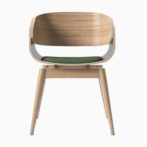 4th Armlehnstuhl mit weichem grünem Sitz von Almost