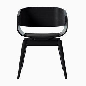 Schwarzer 4th Armlehnstuhl mit weichem schwarzem Sitz von Almost