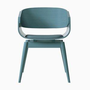 Blauer 4th Armlehnstuhl mit weichem blauem Sitz von Almost