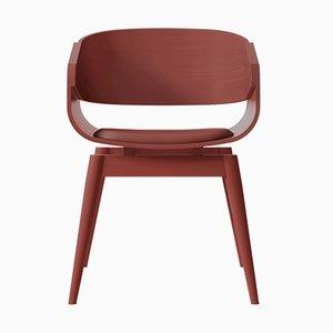 Butaca 4th en rojo con asiento acolchado en rojo de Almost