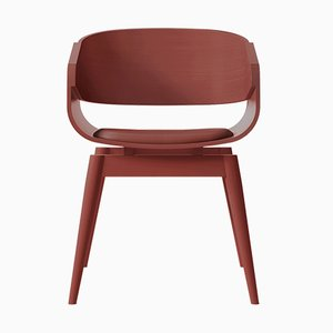 Sedia 4th Armchair rossa con seduta morbida di Almost