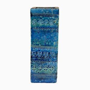 Rimini Blu Keramik Vase von Aldo Londi für Bitossi, 1970er