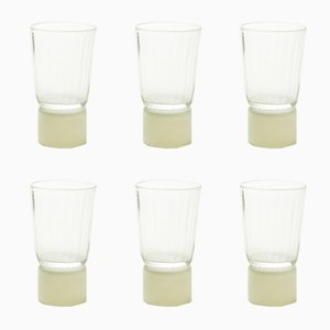 Beige & Clear Glass Table Accessories by Atelier George, Set of 6