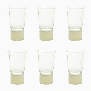 Beige Glas Tisch Accessoires von Atelier George, 6er Set