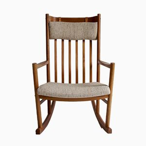 Vintage Rocking Chair by Hans Wegner for Tarm Stole, 1960s
