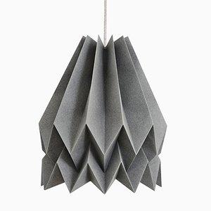 PLUS Plain Alpine Grey Origami Lamp by Orikomi
