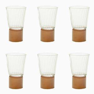 Accessoires de Table Couleur Moka & Transparents par Atelier George, Set de 6