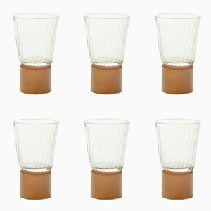 Mocha & Clear Glass Table Accessories by Atelier George, Set of 6