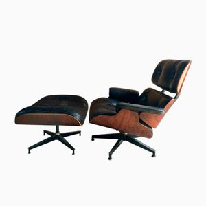670 & 671 Lounge Chair & Ottoman by Charles & Ray Eames for Herman Miller, 1974