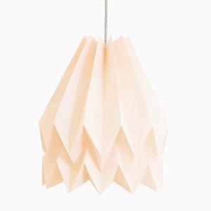 Lampe Origami PLUS Rose Pastel Uni par Orikomi