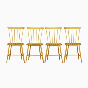 Dänische Beistellstühle, 1960er, 4er Set