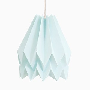 Lampe Origami PLUS Bleu Menthe Uni par Orikomi