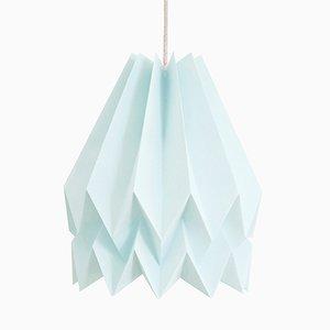 PLUS Plain mintblaue Origami Lampe von Orikomi