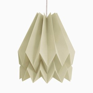 PLUS Plain Light Taupe Origami Lamp by Orikomi