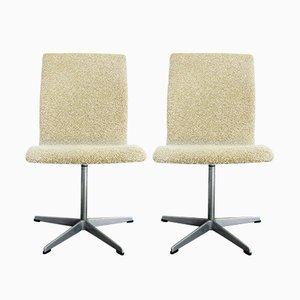 Chaises Oxford par Arne Jacobsen pour Fritz Hansen, Danemark, Set de 2