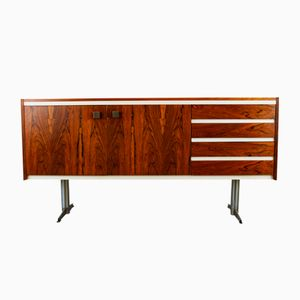 Dutch Rosewood & Chrome Lowboard from TopForm, 1960s