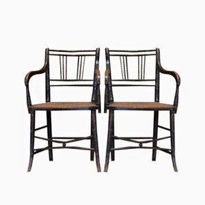 Bemalte Regency Stühle aus 19. Jh.