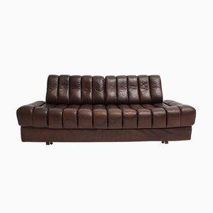 Sofá cama de cuero de de Sede, años 70
