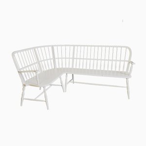 Antique White Bench