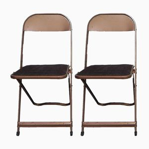 Mid-Century Steel Folding Chairs from Cooey, Set of 2