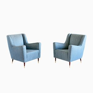 Conte Grande Armchairs by Gio Ponti, 1940s, Set of 2