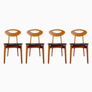 Vintage Dining Chairs by Roger Landault for Sentou, Set of 4