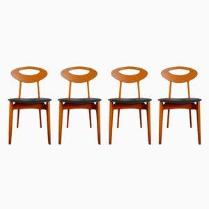 Vintage Esszimmerstühle von Roger Landault für Sentou, 4er Set