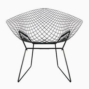 Model 421 Black Diamond Chair by Harry Bertoia for Knoll, 1950s