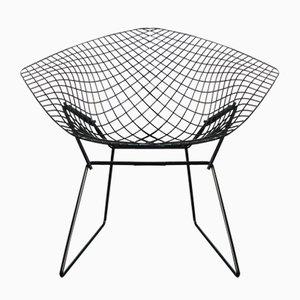 Modell 421 Diamond Stuhl in Schwarz von Harry Bertoia für Knoll, 1950er