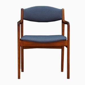 Teak Veneer & Fabric Armchair, 1960s