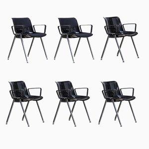 Chaises de Bureau SM203 de Tecno, 190s, Set de 6