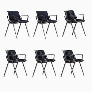 SM203 Office Chairs from Tecno, 1980s, Set of 6