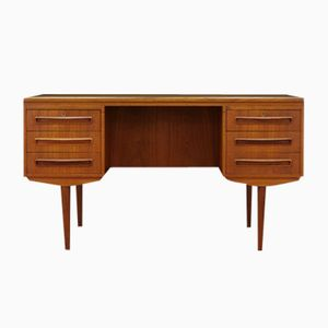 Teak Veneer Writing Desk by J. Svenstrup for A.P. Møbler, 1960s