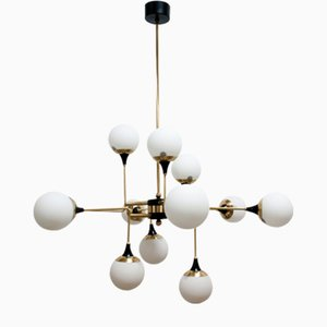 12-Arm Chandelier from Stilnovo, 1950s