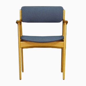 Ash Veneer & Fabric Armchair by Eric Buch, 1960s