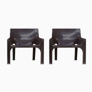 Vicario Stühle von Vico Magistretti für Artemide, 1970er, 2er Set