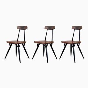 Pirkka Kiefernholz Stühle von Ilmari Tapiovaara für Laukaan Puu, 1950er, 3er Set