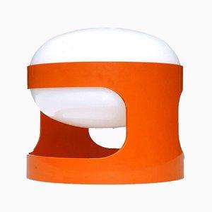 KD27 Tischlampe in Orange von Joe Colombo für Kartell, 1960er