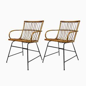 Wicker Garden Chairs, 1960s, Set of 2