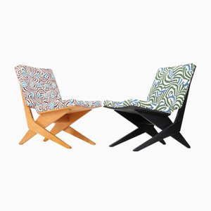 FB18 Scissor Chairs by Jan Van Grunsven for Pastoe, 1959, Set of 2