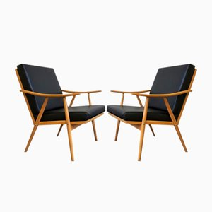 Vintage Czech Armchairs from Thonet, Set of 2