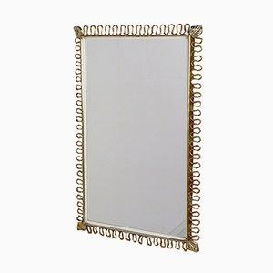 Brass Rectangular Mirror by Josef Frank for Svenskt Tenn, 1950s
