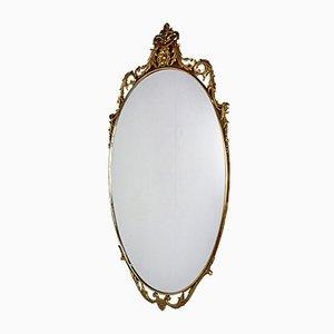Ovaler Vintage Messing Spiegel