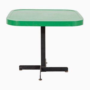 Green Metal Enameled Table by Charlotte Perriand, 1960s