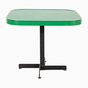 Tisch aus grünem emallierten Metall von Charlotte Perriand, 1960er