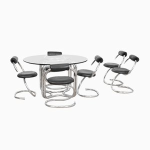 Cobra Dining Room Set by Giotto Stoppino for Italchrom, 1970s