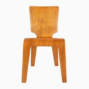 Beistellstuhl aus gebogenem Schichtholz von Herbert Von Thaden für Thaden-Jordan Furniture, 1940er