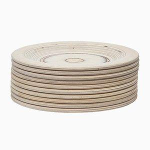 Wooden Plates by Eero Saarinen, 1960s, Set of 10