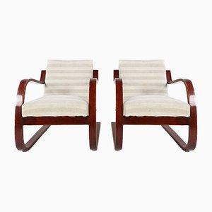 Modell 402 Stuhle Von Alvar Aalto Fur Finmar 1930er 2er Set