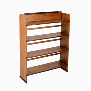 Oak Art Deco Bookcase by Piet Izeren for De Genneper Molen, 1920s